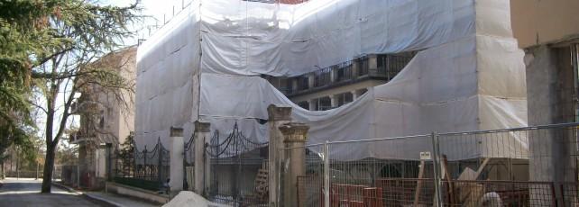 Villa comunale, cantieri